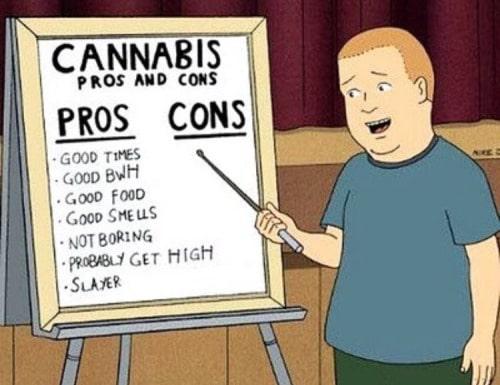 vantaggi di fumare cannabis