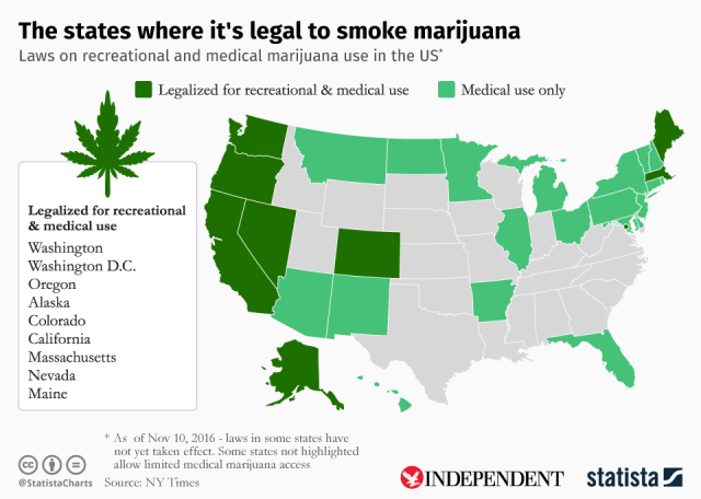 legalizzazione cannabis in america