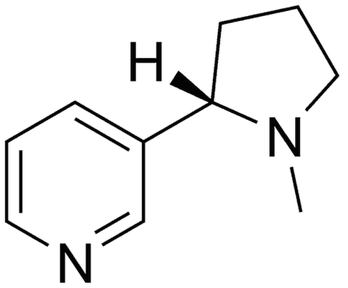 molecola chimica nicotina