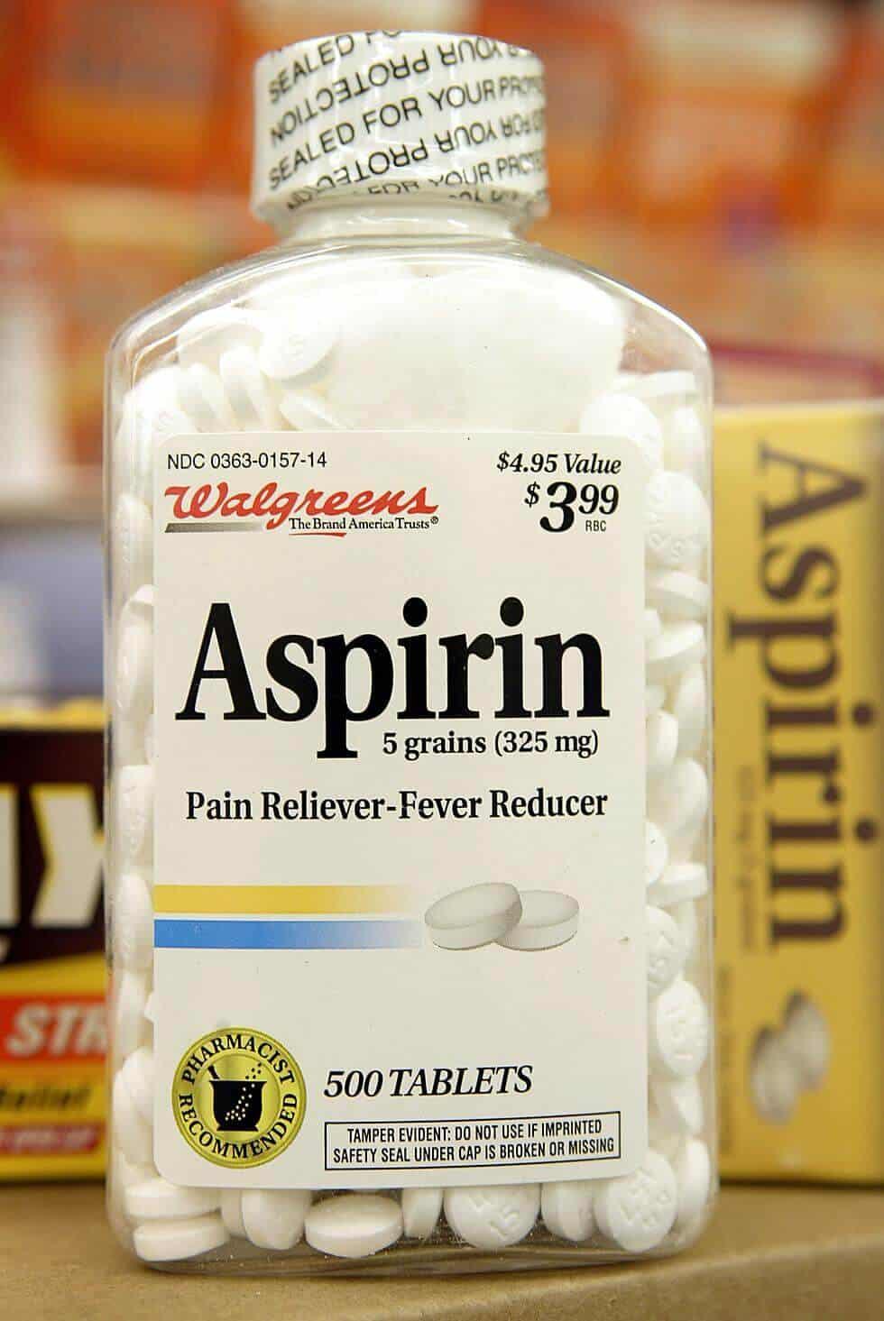 barattolo di aspirine